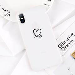 USLION Luminous Silicon Case For iPhone 7 11 Pro Max 6 6s 7 8 Plus X XR XS MAX XS Cartoon Love Heart Stars Soft TPU Cover Coque
