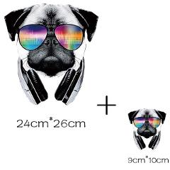 stripes stickers for clothes pug dog patch application of one iron on patches ironing printing for clothing applique tops stripe