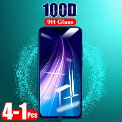 1-4Pcs 100D Protective Tempered Glass For Xiaomi Redmi 7A 8A Note 7 8  Pro 8T K20 Pro Transparent Screen Protector Glass Film