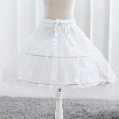 Children White Petticoat Ball Gown Solid Lace for Girls Kids Flexible Waist Drawstring Underskirt for Girls Wear Vestido S