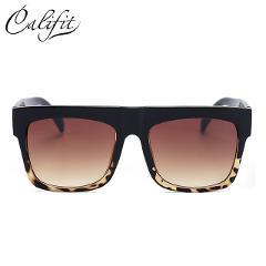 736d4ea006 Отзыв о CALIFIT Black Rivet Flat Top Frame Sunglasses Men Gradient Lens  Shades Square Sunglasses Male UV400 Oculos High Quality