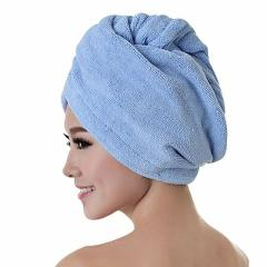Hair Towel Cap Rapid Drying Hair Towel Thick Absorbent Shower Cap Fast  60 x 25 cm Solid Color Towel