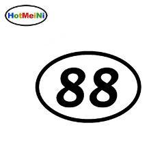 88 Eighty-eight Number Oval JDM Reflective Vinyl Sticker Car Truck Bumper Window Decal Motocross Motorcycle Aufkleber