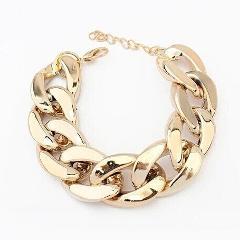 FishSheep Trendy Plastic Thick Flat Link Chain Bracelets For Women Acrylic Rihanna Bracelet Wristband Fashion Celebrity Jewelry