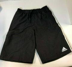 NWT adidas Black Boy's Shorts 3-Stripe Athletic Short Authentic Licensed NEW