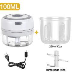 100/250mL Mini Electric Garlic Chopper USB Charging Ginger Masher Machine Sturdy Durable Chili Vegetable Crusher Kitchen Tool