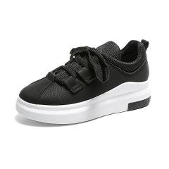 Vulcanized Platform Sneakers Women Trainers Lace-up Shoes Woman Basket Femme Wedges Black Sneakers Zapatillas Mujer Casual