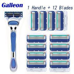 High quality 5-layer Baldes men's razor blade standard Mache 5 4/8/12/16/20pcs blade +1 razor handle