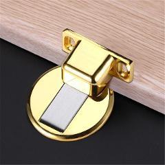 Magnetic Door Stops 304 Stainless Steel Door Stopper Hidden Door Holders Catch Floor Nail-free Doorstop Furniture Hardware @12