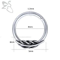 ZS Women's stainless Steel Zircon Septum Nose Rings Helix Cartilage Tragus Conch Leaves Earrings  Girls' Piercing Body Jewellery