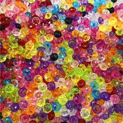 6mm 8mm 10mm 12mm Mix color Austria Faceted Crystal Acrylic Beads Loose Spacer Round Beads DIY Jewelry Making