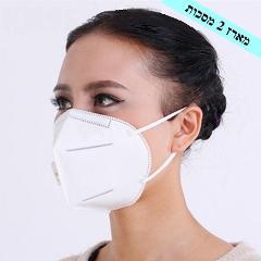 זוג מסכות מדי מסק - מסכות פנים עם מסנן N95 להגנה מהידבקות מקורונה