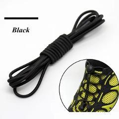 1 Pair Elastic Locking Shoelaces Round No Tie Shoe Laces Kids Adult 22 Colors Quick Lazy Laces Rubber Sneakers Shoelace T1