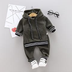 2020 Autumn New Baby Boys Clothes Children Clothing Sets Casual Boys Hooded Sweatshirt+Pants 2Pcs Toddler Clothes Suit