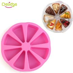 Delidge 1PC Round Silicone Cake Mold 3D Chocolate Muffin Cupcake Candy Mold DIY Fondant Cake Decorating Tools Dropshipping
