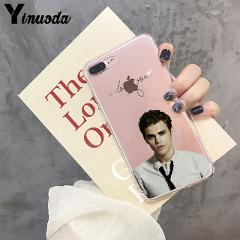 Yinuoda The Vampire Diaries Stefan Damon Salvatore Cell Phone Case for Apple iPhone 8 7 6 6S Plus X XS MAX 5 5S SE XR Cellphones