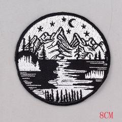 Pulaqi Van Gogh Patch Iron On Patches Embroidered Patches For Clothing Vikings Patch for Clothes Appliques Stripes On Clothes F