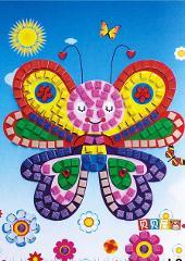 12 Colors 3D DIY Foam Mosaic Stickers Art EVA Children Puzzle Cartoon Crystal 3D Sticker Creative Educational Toys For Kids