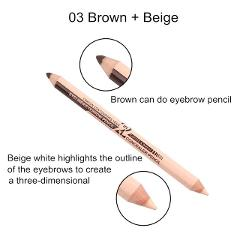 Professional Hot Sale Double Head Eyebrow Pen Eye Liner Pencil Concealer Stick Pencil Long Lasting Makeup Cosmetics tool