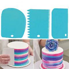Kitchen Accessories 3Pcs Plastic Baking Cake Scraper Dough Vegetable Cutter Kitchenware Accesorios De Cocina Kitchen Gadgets,Q