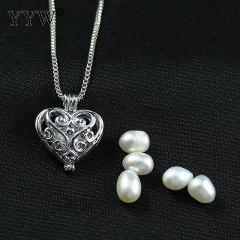 Love Wish Pearl Necklace Romantic Love Unique Pearl Necklace Women Hollow Long Pumpkin Oyster Pearl Pendant