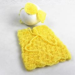 Baby fotografie props newborn mohair knitted outfits bow headband new born photography prop infant photo suits toddler shooting