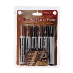 Wood Repair System Kit Filler Sticks Touch Up Marker Floor Furniture Scratch Fix Color-fast for long-lasting beauty Filler stick