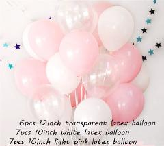 20pcs12-inch Ink-blue Transparent Star Latex Balloon Happy Birthday 2.2g Pink White Helium Balloon Wedding Party Decor Supplies
