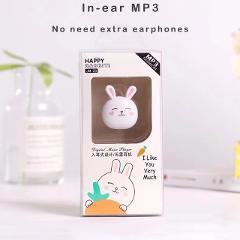 #20# MP3 Player 2019 New Cartoon Cute Rabbit Shape Mini Earphone MP3 Player Support TF Card  Mini Earphone MP3 Player