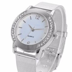 Luxury Watch Women 2019 Crystal Golden Brand Stainless Steel Bracelet Analog Quartz Wrist Watch Dress Clock Relogio Feminino