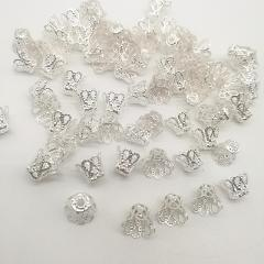 100pcs Jewelry Accessories Beads Caps Medium wine cup Silver/Gold/Dull Silver Plating
