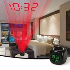 Digital LCD Voice Talking Multifunction LED Projection Alarm Clock Temperature