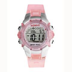 Waterproof Children Girls Digital LED Quartz Alarm Date Sports Wrist Watch NEW