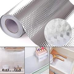 40x100cm Kitchen Oil-proof Waterproof Furniture Stickers Aluminum Foil Cooker Cupboard Self-Adhesive Wall sticker DIY Wallpaper