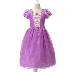 Girls Rapunzel Princess Dress Up Children Dresses Summer Snow White Cosplay Customes Sleeping Beauty Aurora Frocks For Kids