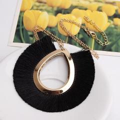 Exknl Tassel Necklace Women Long Necklace Boho Bohemian Fringe Statement Pendant Necklace Fashion Jewelry Collier Accessories