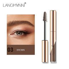 Langmanni Natural  Liquid Dyeing Eyebrow Cream Set Waterproof Durable Brown Tint Eyebrow Henna Mascara Eyebrows Paint Makeup