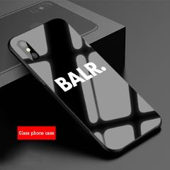 Cool balr log Tempered Glass Phone Case For iPhone XR XS XS Max 8 7 6 6S Plus For iPhone 5 5C SE 5S X