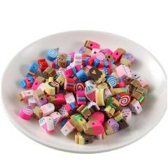 10MM 50PCS/Lot Fimo Fruit Beads Polymer Clay Beads Polymer Clay Spacer Beads Mixed Color DIY Jewelry Making