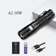 Supfire Flashlight Linterna LED Zoom Flash Light 18650 Rechargeable A2 USB Torch for Fenix Sofirn Convoy Olight Lanterna S099