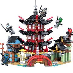 737pcs Ninjagoed Mini Temple of Airjitzu Building Blocks Kit Bricks Classic Movie Ninja Model Kids Toys For Children Gift