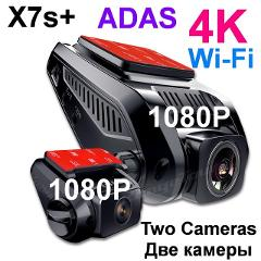 Car DVR 4K 2880*2160P GPS WiFi ADAS Dash Cam Dual Lens 1080P+1080P Vehicle Car Camera Driving Recorder