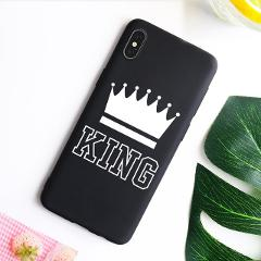 Crown Couples Phone Case For iPhone 11 Pro Case Coque iPhone XR X XS Max 6 6S 7 8 Plus Funda King Queen Soft TPU Back Cover
