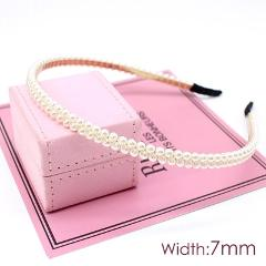 1Pc Fashion Pearl Hairband Cat Ear Headband  Elegant Hair Accessories Women Headwear