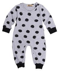 Newborn Baby Girl Rompers Jumpsuit Long Sleeve Polka Dot Lovely Cute Fashion Clothes Outfit 0-24M
