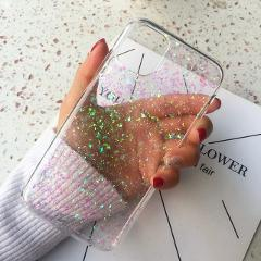 Tfshining Bling Glitter Phone Case For iPhone 11 Pro X XS Max XR Soft Silicone Cover For iPhone 7 8 6 6S Plus Transparent Cases