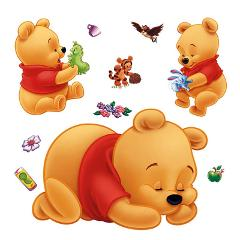 3d winnie the pooh wall stickers for kids rooms removable baby bedroom cartoon nursery children boys wall decals