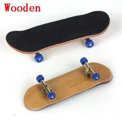 Wooden Fingerboard Professional Finger SkateBoard Wood Basic Fingerboars With Bearings Wheel Foam Tape Set Finger Skateboards