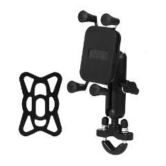 Motorcycle Cell Phone Holder Handlebar Rail Mount Universal X Grip Bracket Stand for Mobile Devices