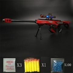 Water Bullet Gun Toy Sniper Rifle Pistol Soft Paintball Outdoor Shooting Plastic